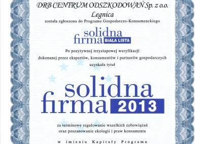 Solidna Firma 2013