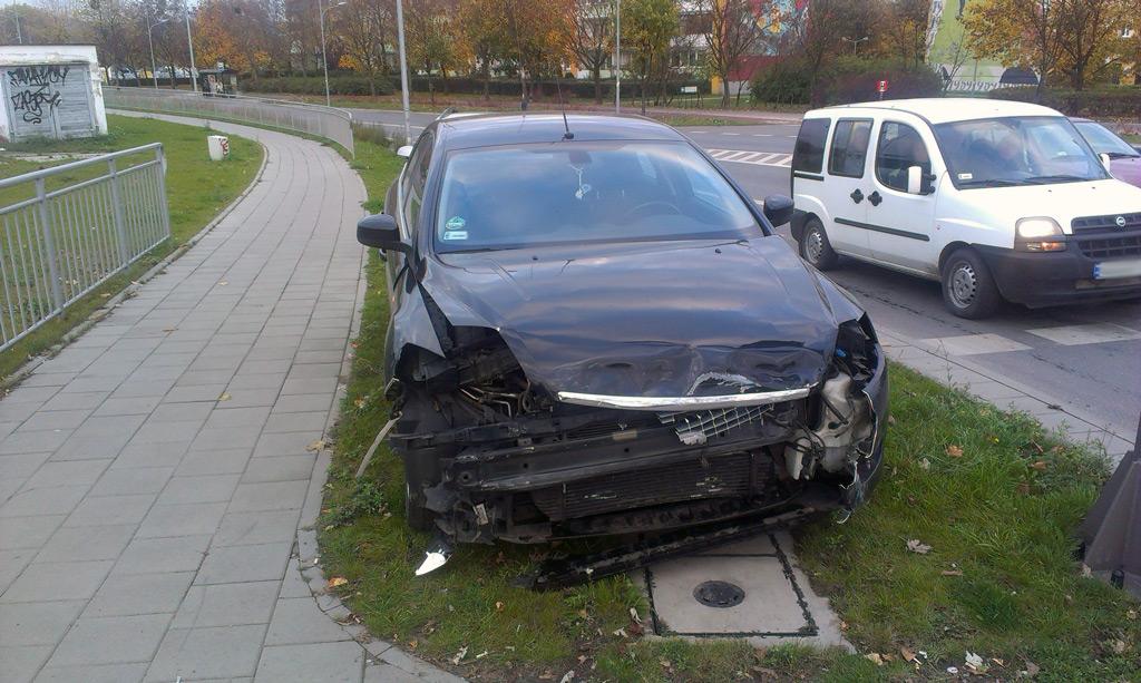 Wypadek na skrzyżowaniu Hynka i Żołnierzy Wyklętych